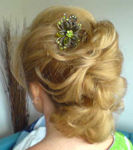 Wedding Hairstyle in Pollenca